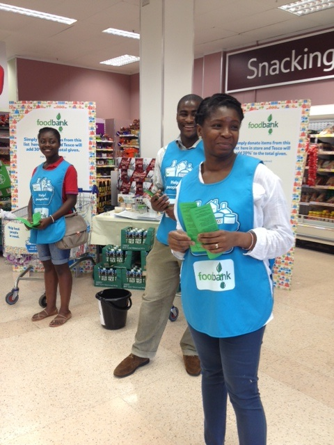 Tesco Foodbank Collection July 2013