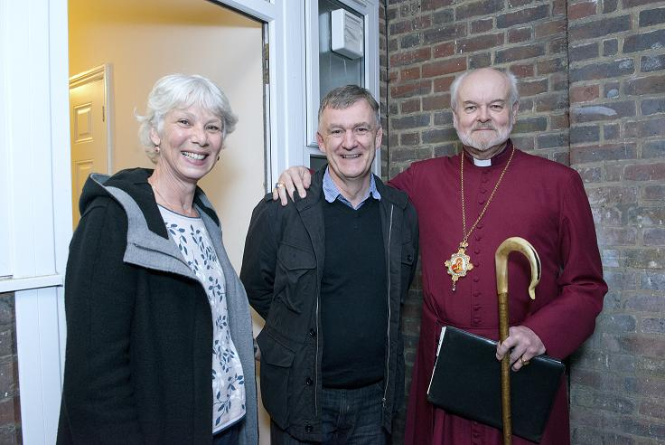 The Bishop of London welcomes Steve and Michelle Addison to their new home...