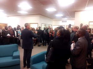 Bishop Adrian blesses our new offices