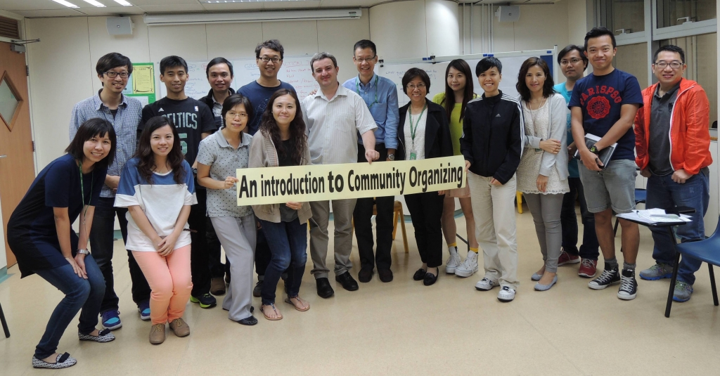 Angus with some of the trainees on his last visit to Hong Kong